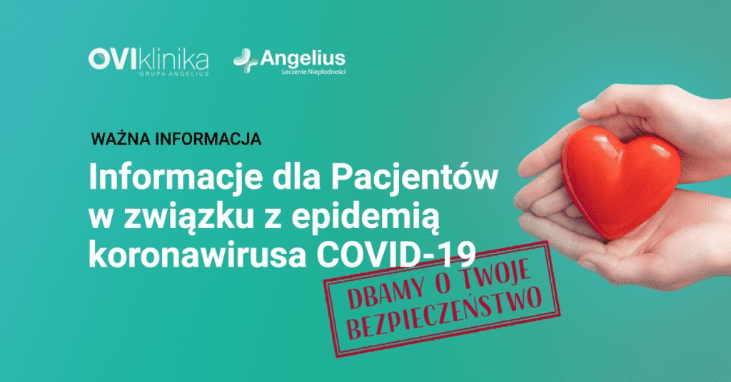 Informacje dla Pacjentów w związku z epidemią koronawirusa COVID-19